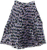 Holly Fulton Pleated Iris Print Skirt