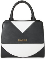 Kenneth Cole Reaction Black & Chalk Right Angles Satchel