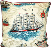 One Kings Lane Vintage Nautical Clipper Pillow