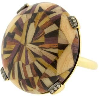 Silvia Furmanovich 18kt yellow gold diamond Marquerty ring
