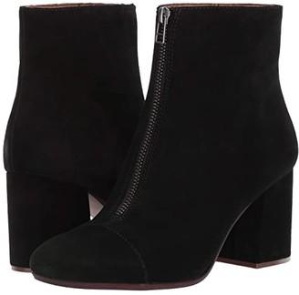 Madewell Rita Front Zip Boot (True Black Suede) Women's Boots