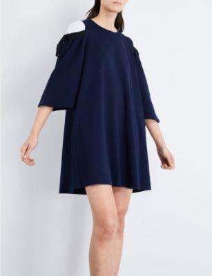 Izzue Cold-shoulder stretch-cotton dress