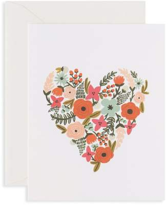 Rifle Paper Co. Floral Heart Greeting Card/Set of 8