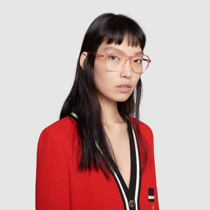 Gucci Round-frame acetate glasses