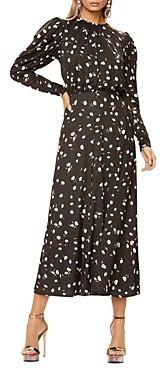 AFRM Zane Blouson-Sleeve Midi Dress