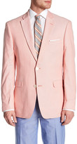 Tommy Hilfiger Ethan Coral Woven Two Button Notch Lapel Sport Coat