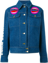 Olympia Le-Tan Word Image denim jacket - women - Cotton - 34