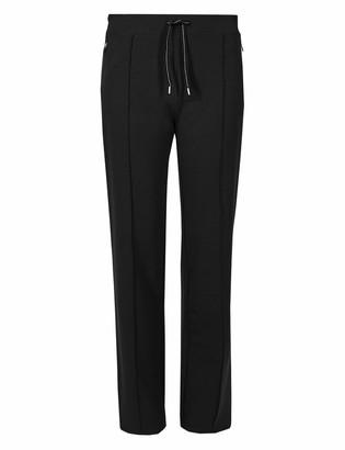 U Wear 4 U u-wear-4-u EX Marks & Spencer Cotton Straight Leg Jogger M&S Active Pocket Zip Black (6 Long)