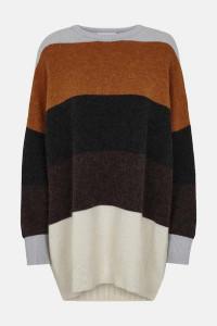 Just Female Sheena Block Stripe Knit Sweater - XS