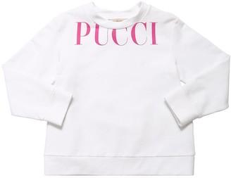 Emilio Pucci Logo Print Cotton Sweatshirt