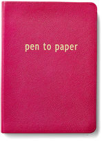 Graphic Image Leather Journal, Pink