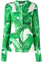 Dolce & Gabbana banana leaf print cardigan
