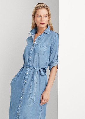 Ralph Lauren Chambray Belted Shirtdress