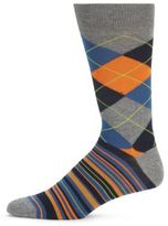 Saks Fifth Avenue Cotton Blend Multicolored Socks