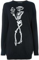 Moschino skeleton intarsia jumper dress