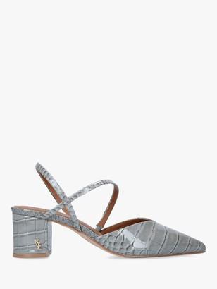 Kurt Geiger Burlington Sling Back Croc Print Court Shoes