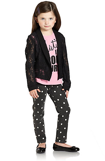 Juicy Couture Toddler's & Little Girl's Lace Blazer