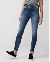 Express extreme high waisted distressed ankle jean leggings