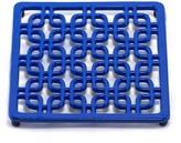 ODI HOUSEWARES Dazzling Blue Square Deco Trivet