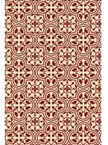 Davon Quad European Design Red/White Indoor/Outdoor Area Rug Charlton Home