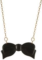 Hollie Ten Black Bow Necklace