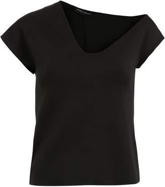 Gloria Coelho asymmetric neckline top