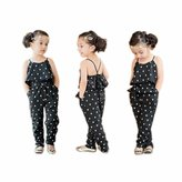 Susenstone 1 PC Kids Girls Love Heart Straps Rompers Jumpsuits Piece Pants Clothing