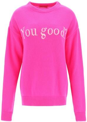 Ireneisgood PULLOVER YOU GOOD M Fuchsia Wool