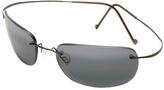 Maui Jim Gunmetal & Gray Kapalua Polarized Wrap Sunglasses