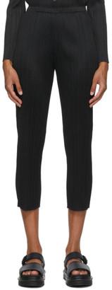 Pleats Please Issey Miyake Black Basics Trousers