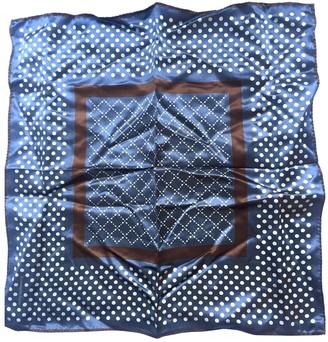 Ermenegildo Zegna Blue Silk Scarves & pocket squares