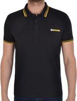 Lambretta Mens Target Logo Tipping PK Polo Shirt- BlkYel - L