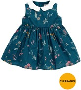 Mamas and Papas Baby Girls Floral Dress With Collar
