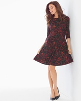 Soma Intimates Simone Fit and Flare Dress Plum Flora