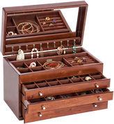 Mele Brigitte Walnut-Finish Wooden Jewelry Box
