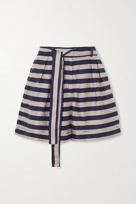 Rebecca Vallance Nautique Striped Woven Shorts