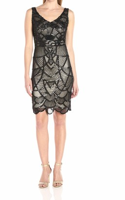 JS Collections Women's Short Art Deco Beaded Dress