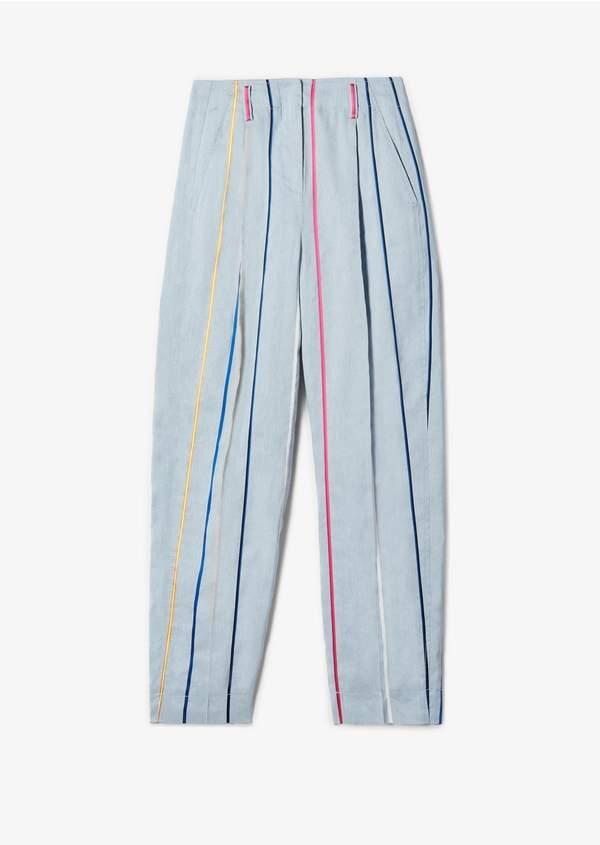 Derek Lam 10 Crosby Tapered Rainbow Stripe Trouser