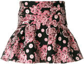 Giamba flared jacquard skirt