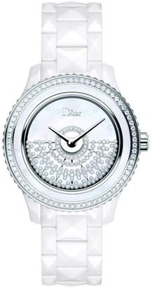 Christian Dior VIII Grand Bal Diamond, Mother-Of-Pearl, White Ceramic & Stainless Steel Automatic Bracelet Watch