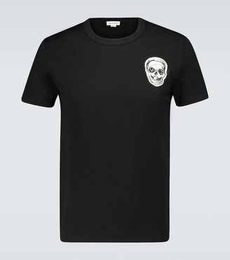 Alexander McQueen Skull embroidered cotton T-shirt