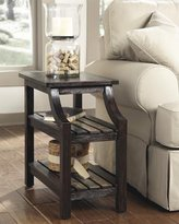 Signature Design by Ashley Ashley Furniture Signature Design Mestler Chair Side End Table, Rustic Brown