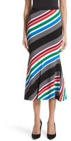 Oscar de la Renta Women's Compact Knit Stripe Skirt