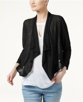 INC International Concepts Petite Cropped Open-Front Cardigan, Only at Macy's