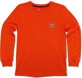 Carhartt Blaze Orange Pocket Tee - Boys