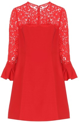 Valentino Lace wool and silk-blend dress