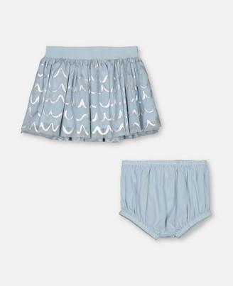 Stella McCartney shell foil tulle skirt