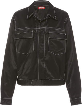 STAUD Ryan Contrast Stitch Jacket