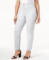Alfani Plus Size Seamed-Waist Skinny Pants, Created for Macy's