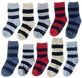 Joe Fresh Toddler Boy Big Stripes Quarter & Crew 8-Pack